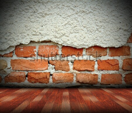 Repedt felület téglafal barna tapasz épület Stock fotó © taviphoto