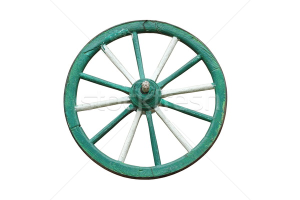traditional cart wooden wheel Stock photo © taviphoto