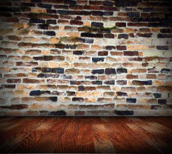 Zaniedbany wnętrza streszczenie tle architektoniczny starych Zdjęcia stock © taviphoto