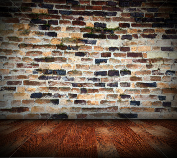 Negligenciadas interior abstrato fundo arquitetônico velho Foto stock © taviphoto