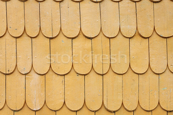 Stock photo: natural traditional wood roof