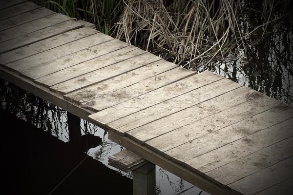 Abstrato ver passarela pequeno lagoa Foto stock © taviphoto