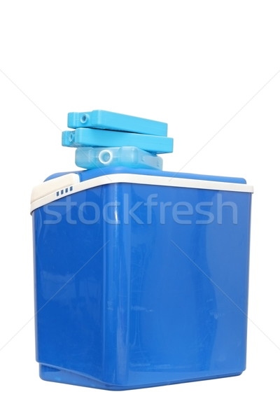 Azul plástico resfriamento caixa viajar saco Foto stock © taviphoto
