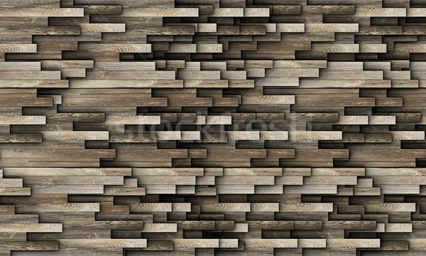 テクスチャ 古い木材 抽象的な 階 壁 ストックフォト © taviphoto