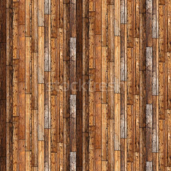 Klasszikus mintázott mahagóni fa párhuzamos montázs Stock fotó © taviphoto