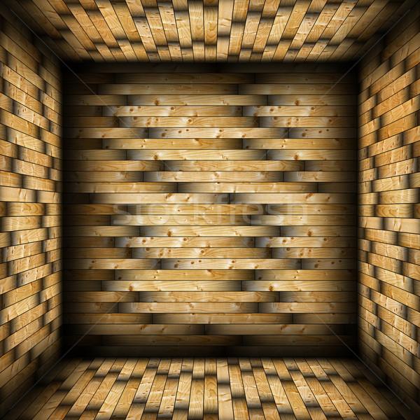 colorful tiled  wood finishing Stock photo © taviphoto