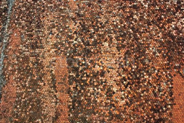 ストックフォト: 屋根 · タイル · テクスチャ · 古い · 教会 · 建築の