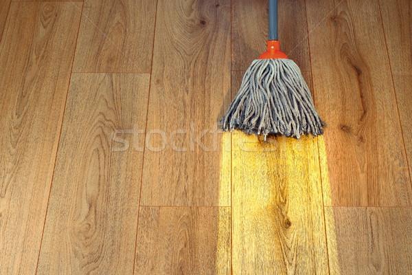 Schoonmaken hout werk kleur Stockfoto © taviphoto