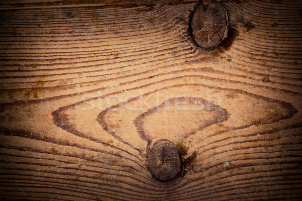 Stock photo: texture of knotted fir plank