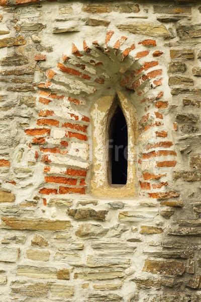 Gótico iglesia ventana detalle edad abandonado Foto stock © taviphoto