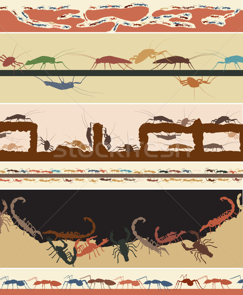 Error establecer colorido vector hormigas Foto stock © Tawng