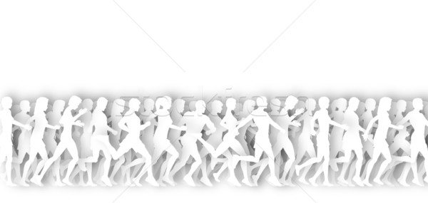 Mass runners cutout Stock photo © Tawng