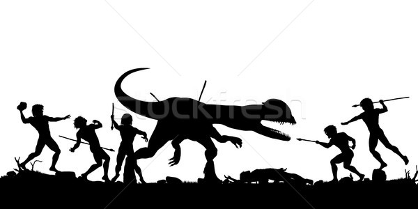 Prehistoric hunt Stock photo © Tawng