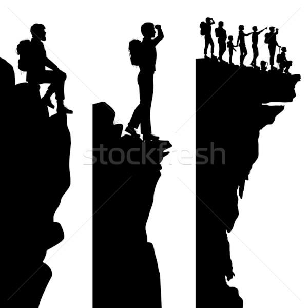 Hiker viewpoints Stock photo © Tawng