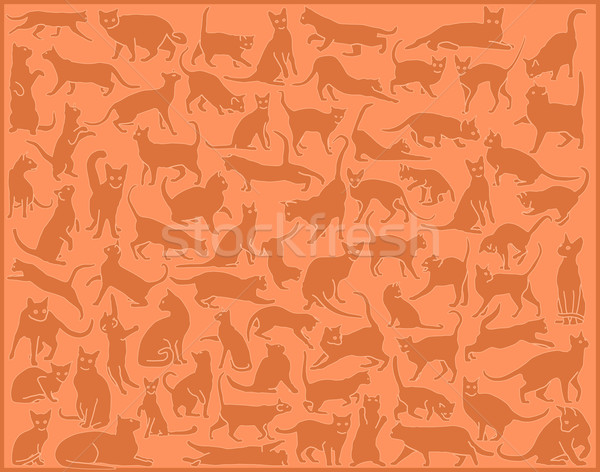 Cat background Stock photo © Tawng
