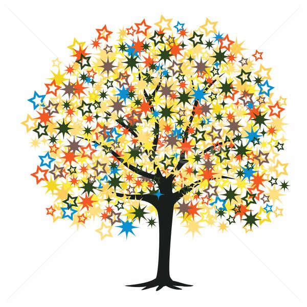 Star arbre coloré étoiles feuille Photo stock © Tawng