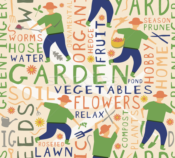 Gardener seamless tile Stock photo © Tawng