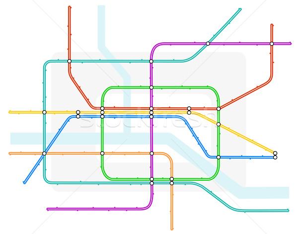Métro carte générique métro train Photo stock © Tawng