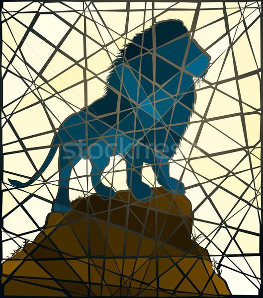 Mosaic lion Stock photo © Tawng
