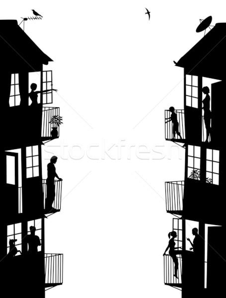 Housing side panels Stock photo © Tawng