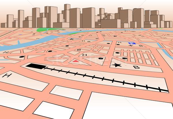 Skyline carte vecteur générique ville Photo stock © Tawng