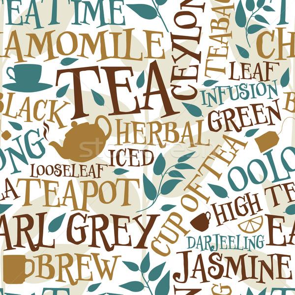 Tea seamless tile Stock photo © Tawng