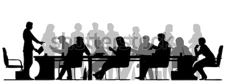 Busy meeting Stock photo © Tawng