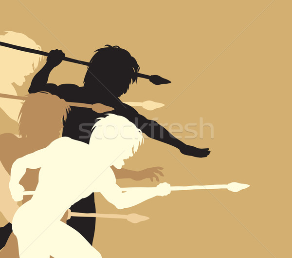 Spearmen Stock photo © Tawng
