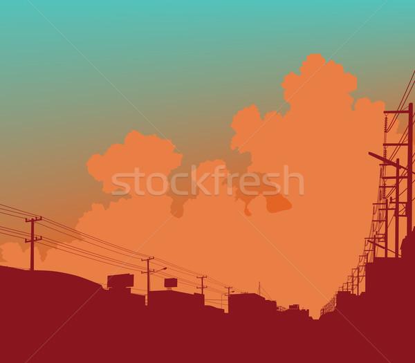 Urban clouds Stock photo © Tawng