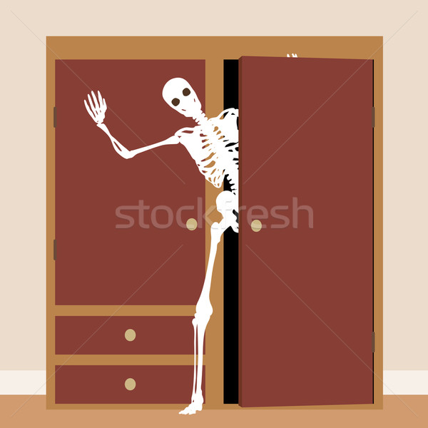 Skeleton in the closet Stock photo © Tawng