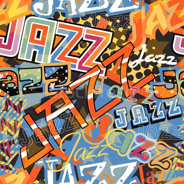 джаза плитка вектора бесшовный слово различный Сток-фото © Tawng