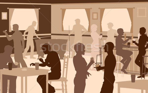 Lively pub Stock photo © Tawng