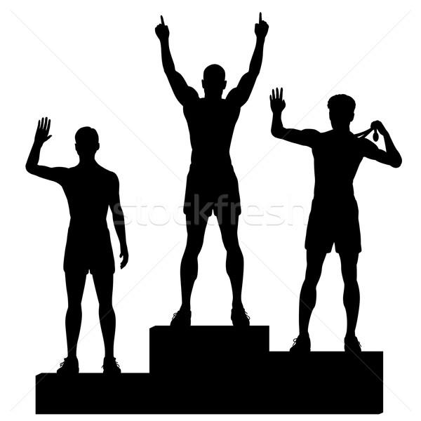 Stock photo: Winners podium
