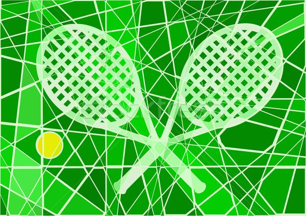 Grass court tennis Stock photo © Tawng