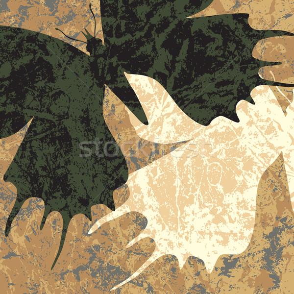 Papillons blanc noir papillon résumé couple Photo stock © Tawng
