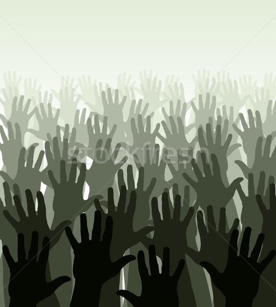Kéz tenger szerkeszthető tömeg integet kezek Stock fotó © Tawng