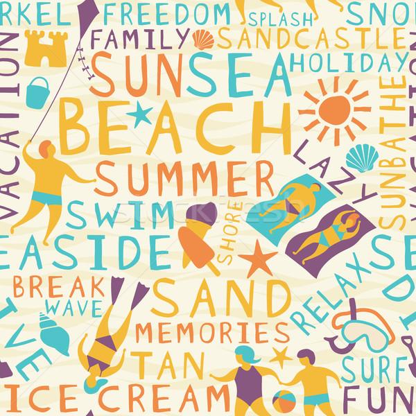 Beach seamless tile Stock photo © Tawng
