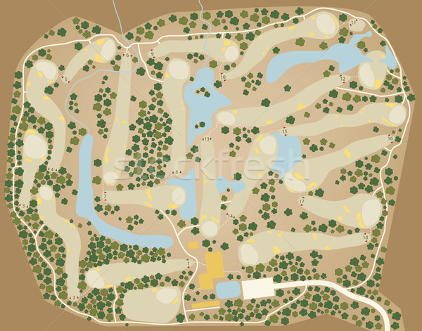 Golf course map Stock photo © Tawng