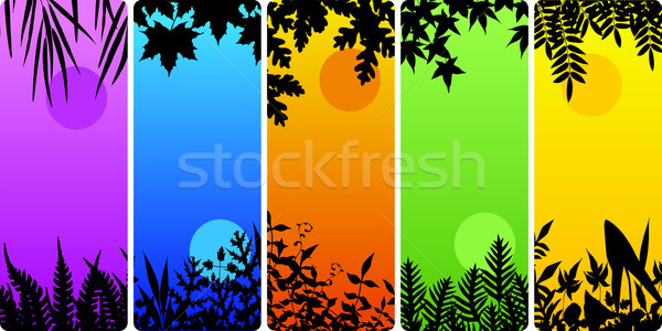 Leafy bookmarks Stock photo © Tawng