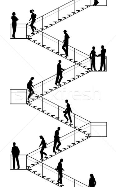 Stairway Vector Illustration 169 Robert Adrian Hillman