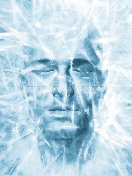 Iced man Stock photo © Tawng