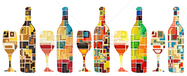 Abstract wine collection Stock photo © Tawng