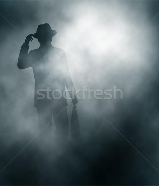 Misty businessman Stock photo © Tawng