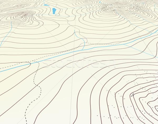 Contour générique carte nature montagne Photo stock © Tawng