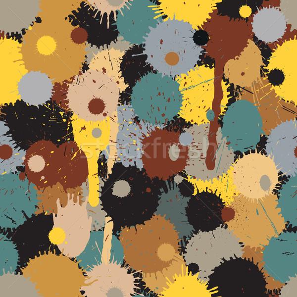Paintball kamuflaż wektora bezszwowy Płytka Zdjęcia stock © Tawng