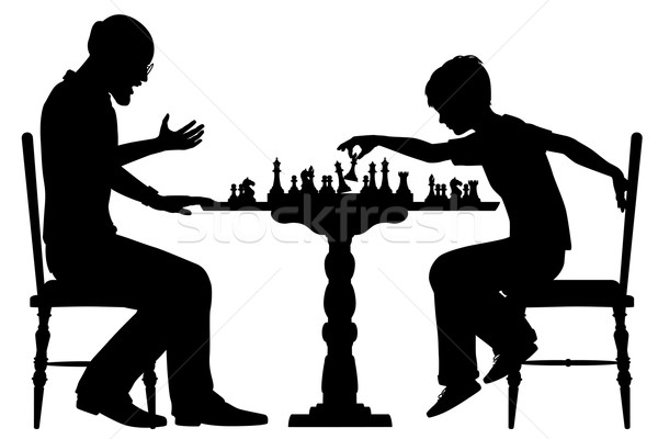 Chess prodigy Stock photo © Tawng