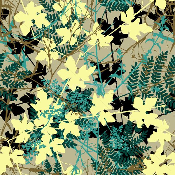 Seamless plants Stock photo © Tawng