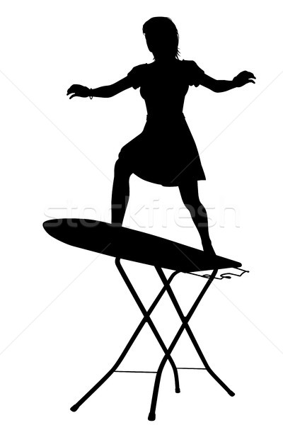 Ironing board surfer silhouette Stock photo © Tawng