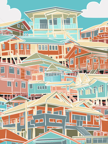 Colorful housing Stock photo © Tawng