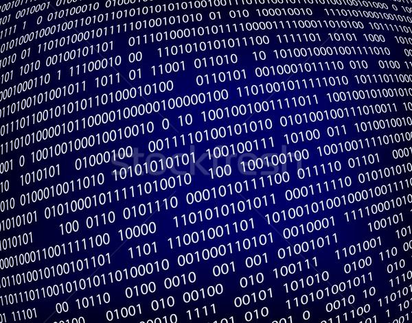 Gegevens binaire code computer technologie Blauw Stockfoto © Tawng